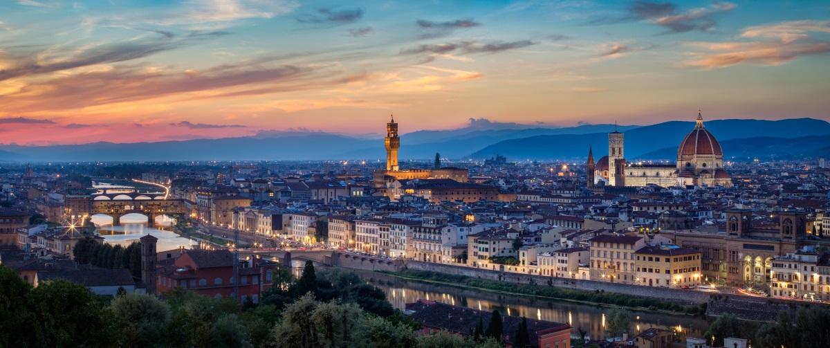 Florenz Panorama- Ansicht, Angebote Urlaub in der Toskana