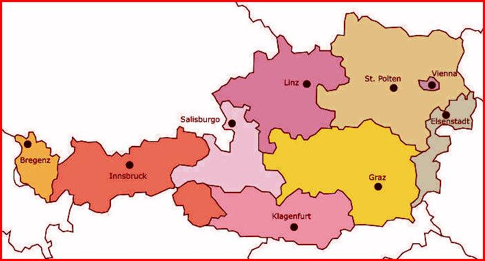 Cartina Austria Stradale.Austria Informazioni Generali